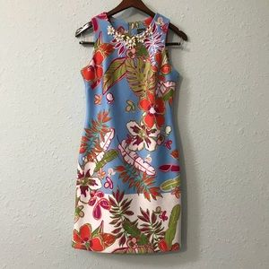 Taylor (Nordstrom) scuba floral dress size 2